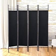 room divider frame black 4 panel room divider privacy folding screen home office fabric metal frame