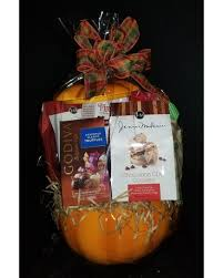ceramic pumpkin gourmet gift basket