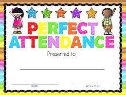 Perfect Attendance Certificate Template Free Jaxos Co