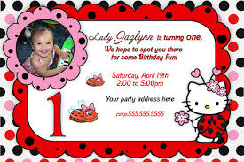 Hello Kitty Invitation Printable Hello Kitty Invitation Printable Hello Kitty Lady Bug Birthday