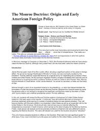 the monroe doctrine origin and early american foreign policy