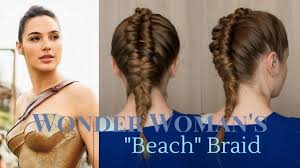 Wonder Woman Hair Style Superhero Style Wonder Womans Beach Braid Youtube 8338 by wearticles.com