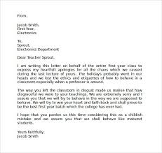 sample apology letter to teacher us apology letter to teacher docoments ojazlink