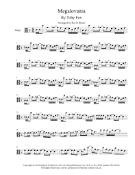megalovania trumpet sheet music download megalovania original key viola sheet music by toby fox