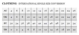 Aus To Us Size Chart What Is A Us Size In Uk Sizes Yahoo Answers
