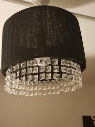 black and crystal light shade modern and stylish