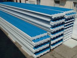 painted corrugated sandwich steel roofing panels