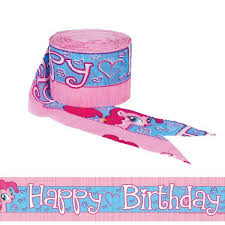 My Little Pony Happy Birthday Crepe Streamer Costumes Com Au