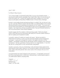 Letter Of Recommendation Social Worker Reference For Student Kinali Co