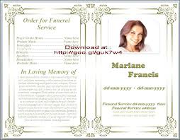 Funeral Templates Free Unique Free Obituary Pamphlet Template Basic How To Make A Funeral