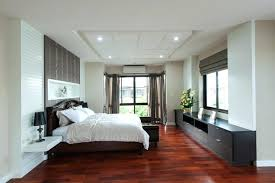 Bedroom With Wood Floors Example Of A Large Danish Master Light Wood