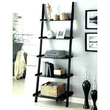 bookcases pottery barn leaning bookcase ladder bookshelf black target astounding design of shelf for home