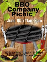 Company Picnic Template Bbq Company Picnic Template Postermywall