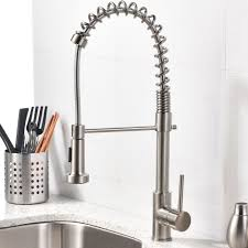 Brushed Nickel Faucet Kitchen Brushed Nickel Kitchen Sink Faucet With Pull Down Sprayer