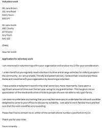 volunteer covering letter example we hope the letter is helpful for you sample cover letter for volunteer work
