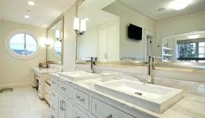 bathroom full length vanity mirror size above large desktop extra mirrors lighted impressions furniture engaging