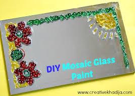 design glass paint mosaic wall art