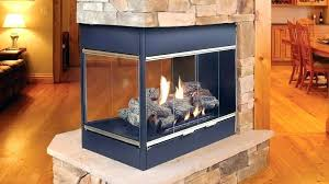 double sided gas fireplace thepoultrykeeperub for perfect double sided electric fireplace insert
