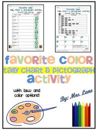 Favorite Color Chart Favorite Color Tally Chart And Pictograph Activity