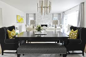 moth design gorgeous dining room with ebony stained dining table black tufted wingback captain