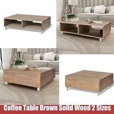 coffee tea table solid wood lounge table living room furniture brown plant stand