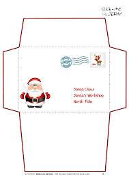 Santa List Template Printable Letter To Santa Claus Envelope Template Cute