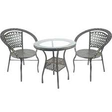 garden table and chair sets wilkinsons asda with parasol outdoor balcony set patio rattan wicker 2