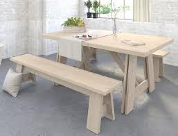 Tischgruppe Valeria 4 Eiche Jackson Esstisch 2x Sitzbank Essgruppe
