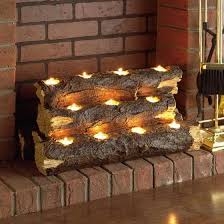 want to use candles but still have the look of a wood burning fireplace