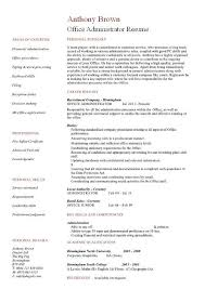Office Administrator Resume Templates Popular Office Administration