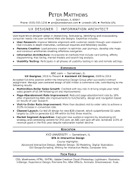 Ux Designer Resume Examples Ux Designer Midlevel Sample Resume For Monster Com Resumes Pdf 27