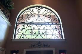 decorative faux wrought iron window insert by inserts diy covering designs
