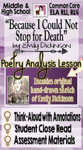 17 best ideas about emily dickinson death emily emily dickinson because i could not stop for death close reading posters