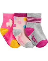 Carters Socks Size Chart 3 Pack Llama Crew Socks Carters Com