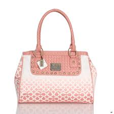 Cheap And Fashion Coach Knitted Monogram Stud Medium Pink Satchels ESF Are  Here!