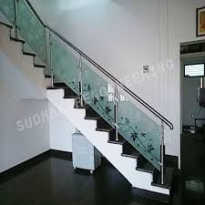 steel railing with glass