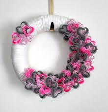 This pretty DIY Valentine's Day wreath can be done by using our full round  polystyrene ring