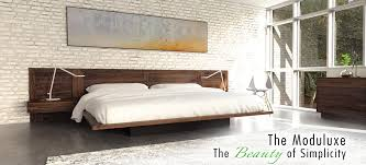 the floating platform bed great looks