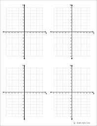 Coordinate Plane Graph Paper Template X Y Printable Worksheets Blank