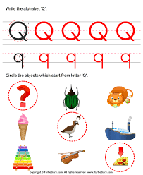 answer identify words that start with q