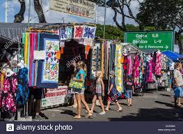 USA, Hawaii, Oahu, Honolulu. Crowds shop for quilts and clothing ... & USA, Hawaii, Oahu, Honolulu. Crowds shop for quilts and clothing at the  Aloha Stadium Swap Meet Adamdwight.com