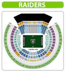 Oakland Raiders Seating Chart 2019 38 Studious Raiders Tickets