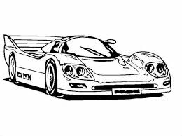 Small Picture Super Race Car with Awesome Back Spoiler Coloring Page Super Race