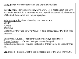 what were the causes of the english civil war learning objectives essay what were the causes of the english civil war