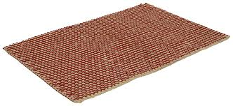 35x24 hand woven textured jute door mats in bulk at whole natural jute with red color eco friendly rugs