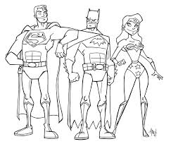 Justice League Coloring Page Pages Printable Colouring Flash P To