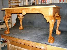 cherry ball and claw foot coffee table by dustymark lumberjocks