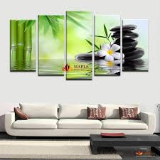 2018 hd canvas prints bamboo stone scenery modern home wall decor canvas picture art hd print painting on canvas for home decor from maplepainting