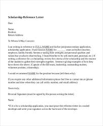 Scholarship Reference Letter