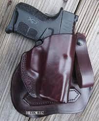 kramer holster owb leather msp paddle belt loop holster